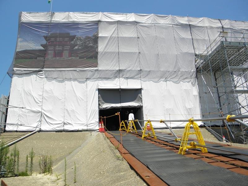 多賀城南門復元工事見学会